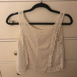 Zara Embroidered Tank with Buttons on Side